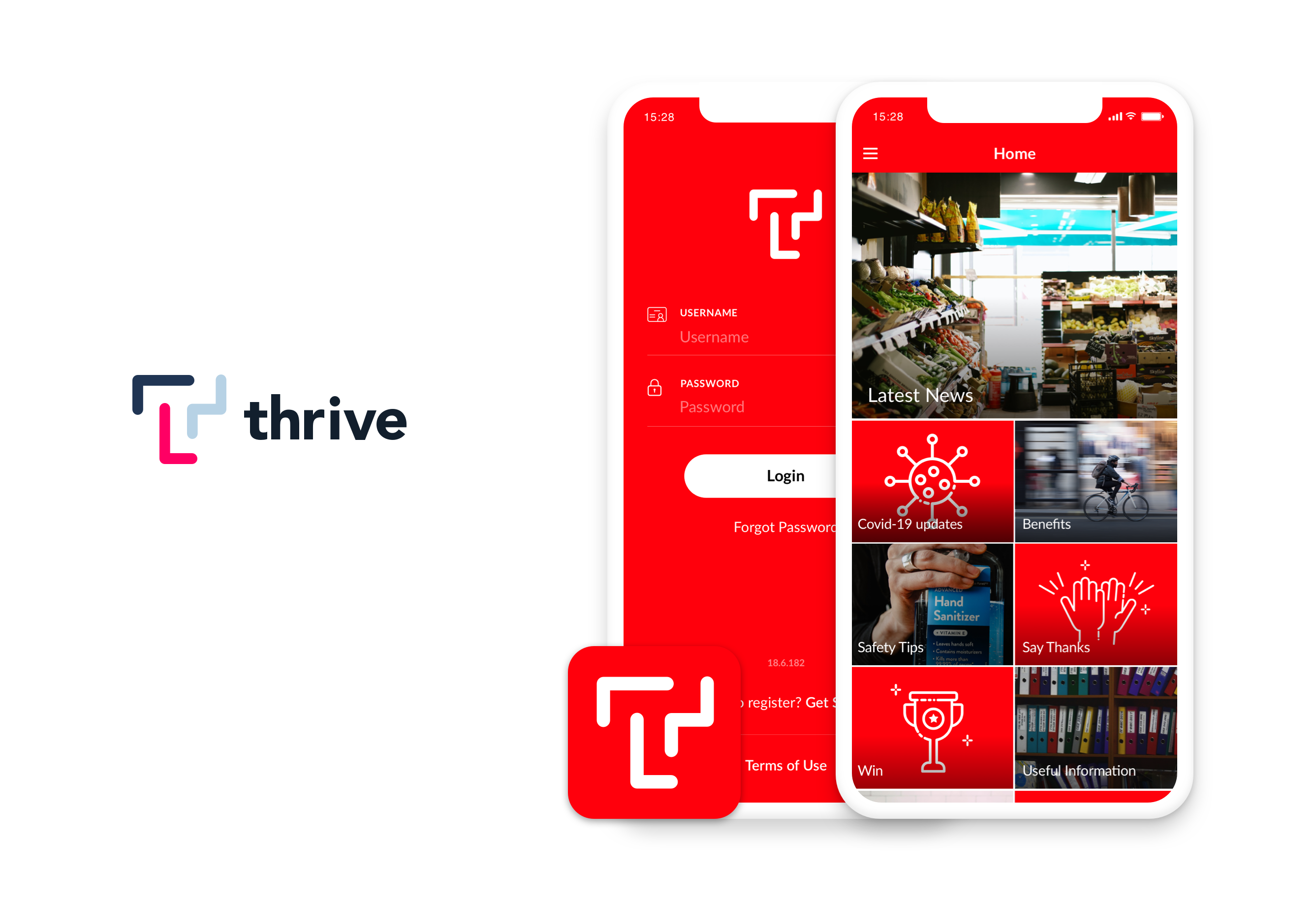 Thrive Employee App example for Food and Beverage